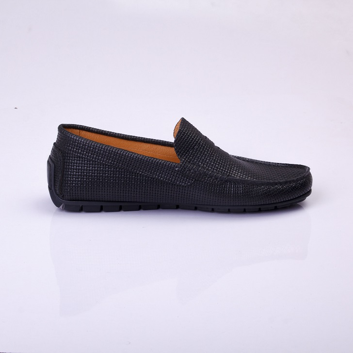 FPC Black Knitted Leather Drivers 2