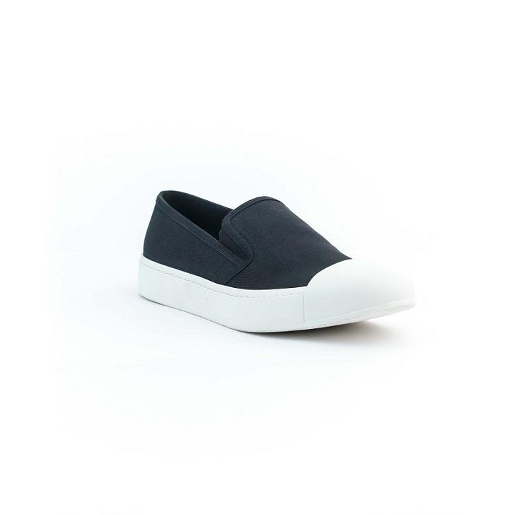 Black Prada Cotton Material Mudguard Slip-on
