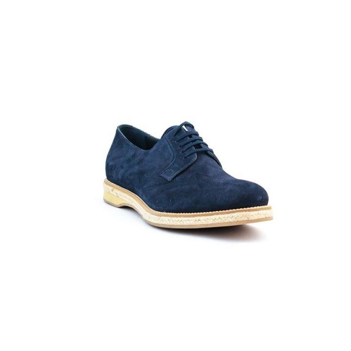 Blue Prada suede lace-up shoe
