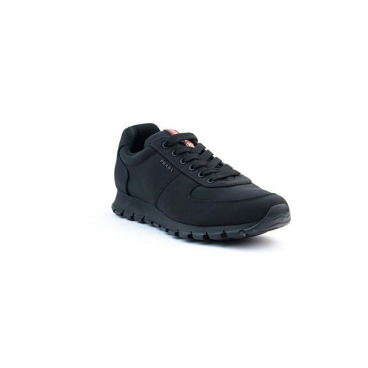Prada Fabric Sneakers with Rubber Sole
