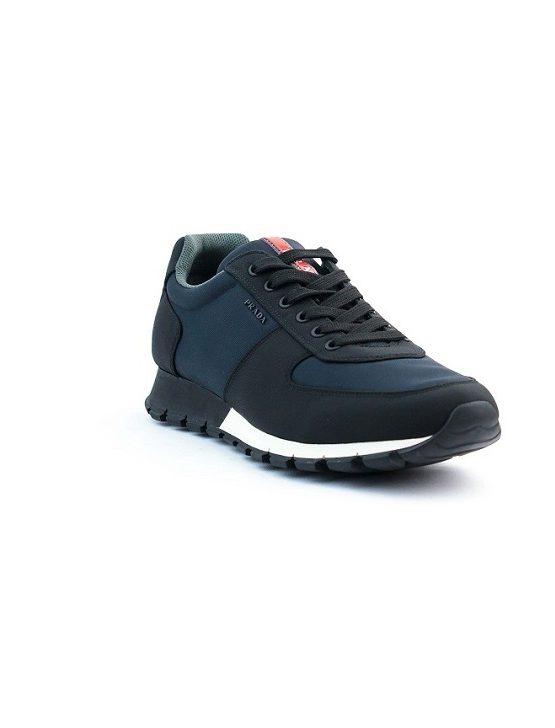Prada Fabric Black and Blue Sneakers