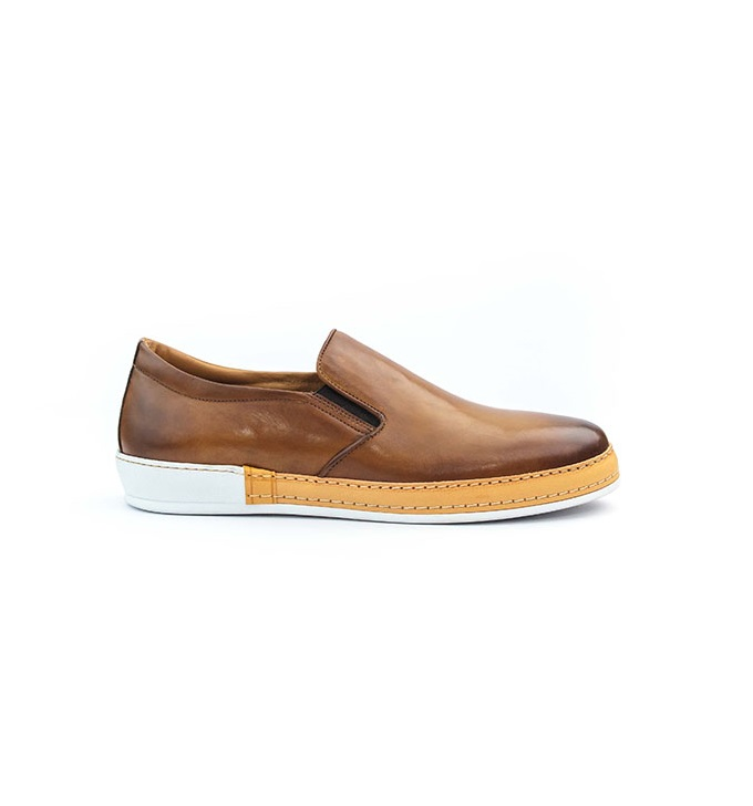 FPC Tan Brown Leather Slip-on 1
