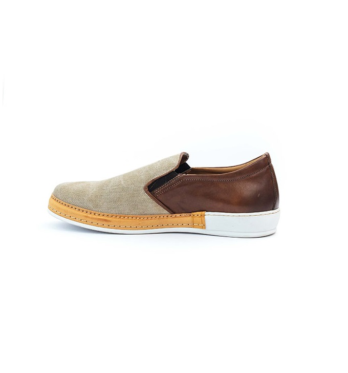 FPC Mixed Brown and Cream Leather Slip-on