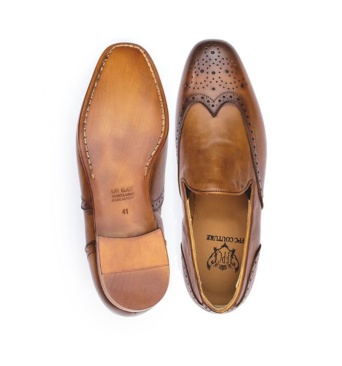 FPC Brown Leather Moccasins Brogues
