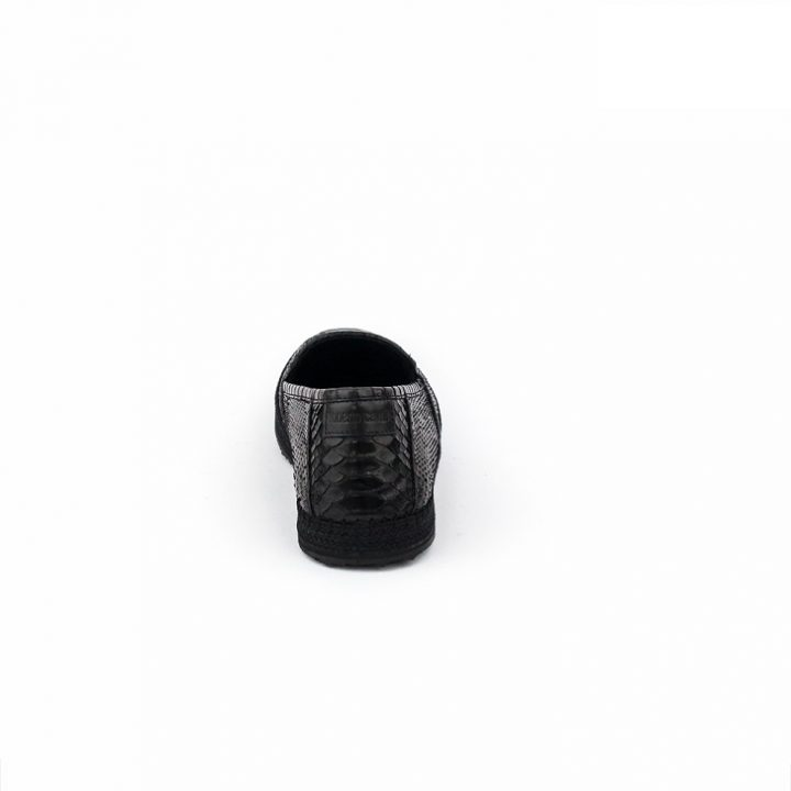 Roberto Cavalli Black Python Print Slip-On
