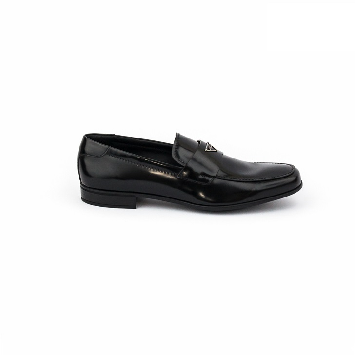 Prada Men's Spazzolato Leather Penny Loafer