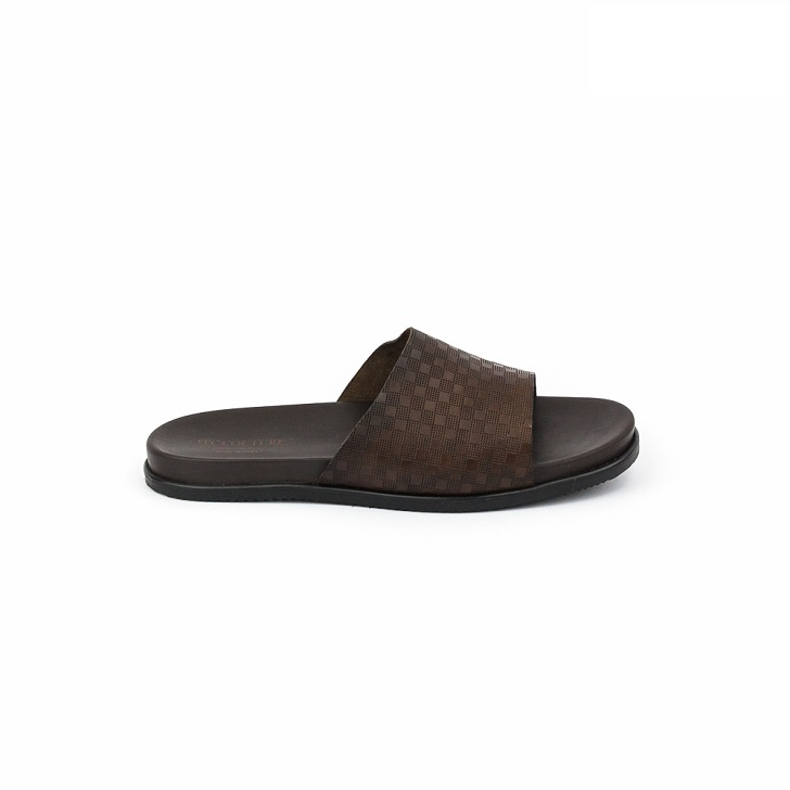 FPC Brown Open Toe Slippers