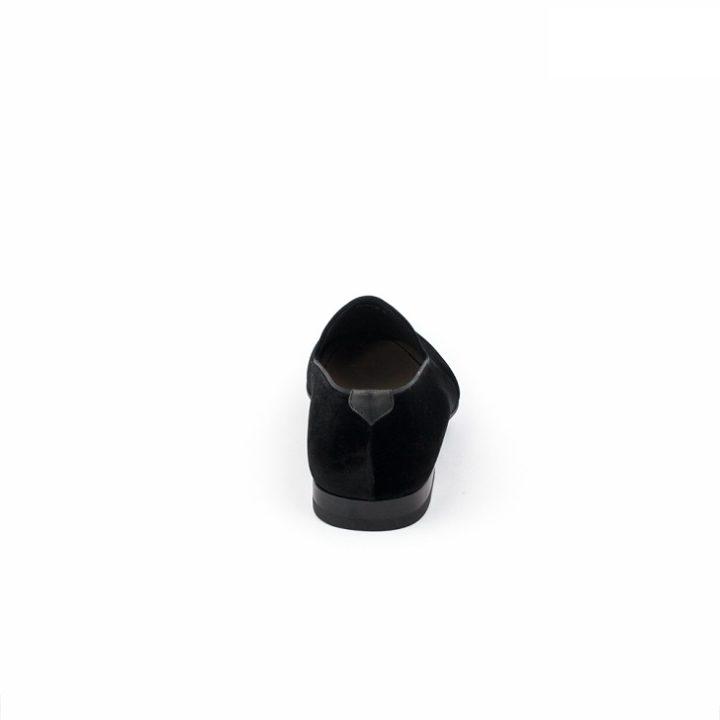 Magnanni Negro Plain Black Suede Loafers