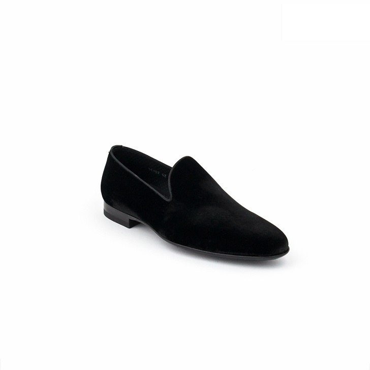 Magnanni Negro Plain Black Suede Loafers