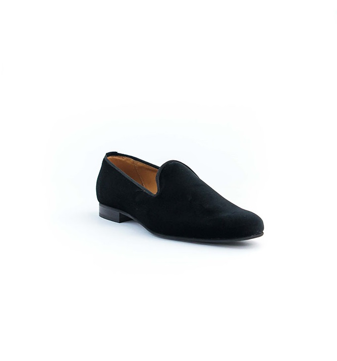 FPC Plain Toe Black Suede Loafers