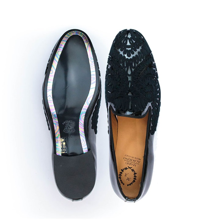 FPC Embroidery Patent Leather Loafers