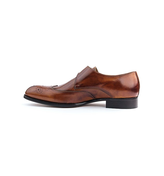 FPC Brown Leather Monk Strap Brogues